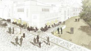 Artist's impression of the proposed Studio Theatre cafe-bar terrace