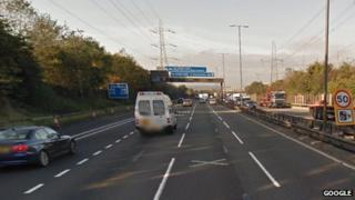 M6 near Perry Barr, Birmingham