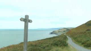 The coastal path near Borth