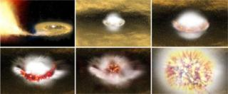 Artist's impression of Type Ia supernova