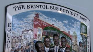 Bristol bus boycott plaque