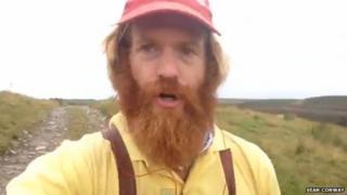 Sean Conway's selfie fall screen grab