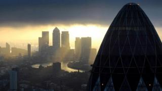 City of London at sunrise