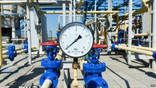 Ukraine gas installation near Kharkiv - file pic