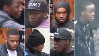Eight people sought over disorder