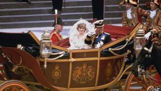 Prince Charles and Princess Diana wedding day
