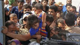 Iraqi civilians in Amerli