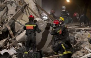 Search at a four-storey building at Rosny-sous-Bois