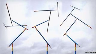 The pencils sculpture