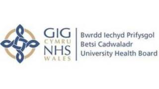 Arwydd Bwrdd Iechyd Betsi Cadwaladr