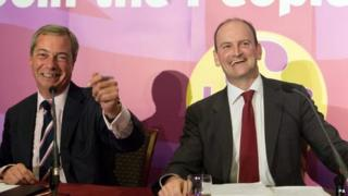 Nigle Farage and Douglas Carswell on the day the MP defected to UKIP