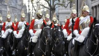 The Household Cavalry on parade