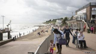 The seafront at Clacton