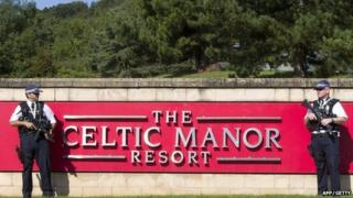 Security at Celtic Manor