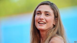 French actress Julie Gayet arrives for the opening ceremony of the 71st Venice Film Festival at Venice Lido on 27 August 2014