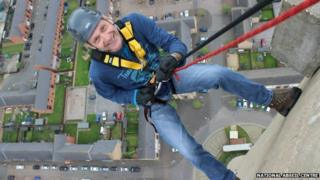 Northampton Lift Tower abseil