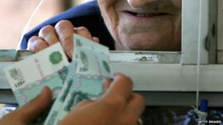 Rouble old woman