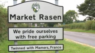 Sign near Market Rasen