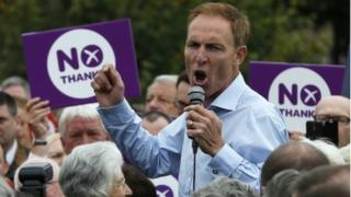 Jim Murphy has been campaigning around Scotland for a No vote