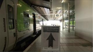 Railway disruption sign