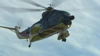 Isles of Scilly helicopter in October 2012