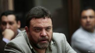 Edgar Camargo in court, Guatemala City