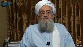 Al Qaeda leader Ayman al Zawahiri announces the formation of an Indian branch of his militant group at an unknown location in this still image taken from an undated handout video provided by SITE on September 4, 2014