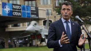 NATO Secretary General Anders Fogh Rasmussen at the Celtic Manor Resort