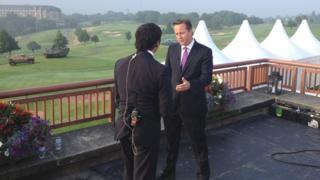 David Cameron is interviewed