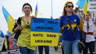 Protest march outside Nato summit