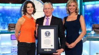 Countdown presenters Susie Dent, Nick Hewer and Rachel Riley