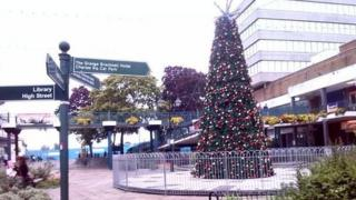 Bracknell Christmas decorations