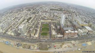 Aerial picture of Hove