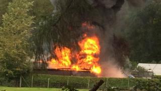 Fire at Ecclerigg