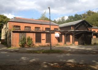 Derelict spa at Woodhall Spa