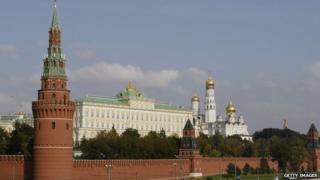 The Kremlin in Moscow on 26 September 2003