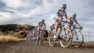 Cyclists from Team Novo Norodisk