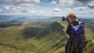 Nigel Forster photographing Pen y Fan