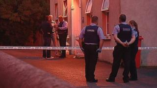 Irish police at St Otteran's Hospital, Waterford, where the fatal stabbing took place