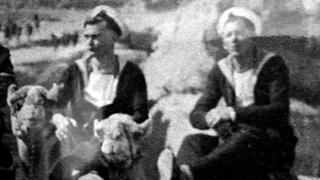 Bill Ashby (right) in Egypt