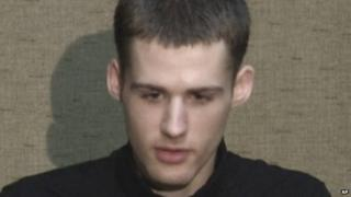 File photo: US citizen Matthew Miller speaks at an undisclosed location in North Korea, 1 August 2014