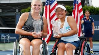 Jordanne Whiley and Whiley; Yui Kamiji