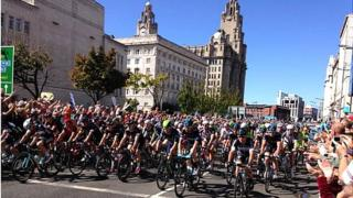 Tour of Britain in Liverpool 2014