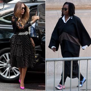 Sarah Jessica Parker (left) and Whoopi Goldberg