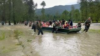 The army has been contributing in rescue efforts