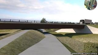 Artist's impression of the Ely bypass
