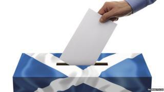 A Scottish flag ballot box