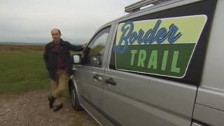 Mark Denten with the Border Trail van