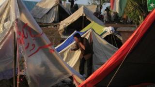 Pakistan tent village