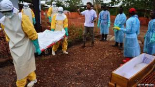 Burial after Ebola death